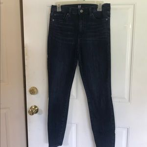 28R Gap high rise dark wash jean leggings